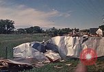 Image of wrecked trailer home Rapid City South Dakota USA, 1972, second 57 stock footage video 65675052543