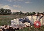 Image of wrecked trailer home Rapid City South Dakota USA, 1972, second 59 stock footage video 65675052543