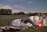 Image of wrecked trailer home Rapid City South Dakota USA, 1972, second 60 stock footage video 65675052543