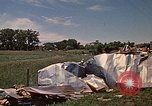 Image of wrecked trailer home Rapid City South Dakota USA, 1972, second 61 stock footage video 65675052543