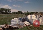 Image of wrecked trailer home Rapid City South Dakota USA, 1972, second 62 stock footage video 65675052543