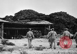 Image of Marine officers Wake Island Pacific Ocean, 1945, second 18 stock footage video 65675052562