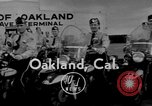 Image of Oakland Motorcycle Drill Team Oakland California USA, 1955, second 2 stock footage video 65675052569