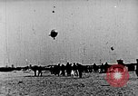 Image of Parachutist jumps from airship New York United States USA, 1918, second 17 stock footage video 65675052580