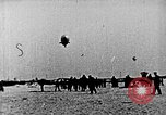 Image of Parachutist jumps from airship New York United States USA, 1918, second 18 stock footage video 65675052580
