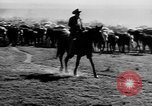 Image of cowboys on ranch United States USA, 1940, second 20 stock footage video 65675052587