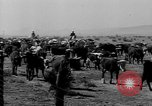 Image of cowboys on ranch United States USA, 1940, second 57 stock footage video 65675052587