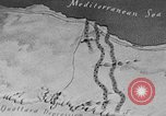 Image of map of Africa El Alamein Egypt, 1944, second 9 stock footage video 65675052596