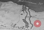 Image of map of Africa El Alamein Egypt, 1944, second 10 stock footage video 65675052596