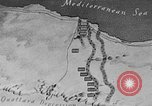 Image of map of Africa El Alamein Egypt, 1944, second 12 stock footage video 65675052596
