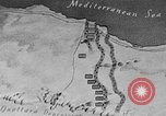 Image of map of Africa El Alamein Egypt, 1944, second 13 stock footage video 65675052596