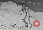 Image of map of Africa El Alamein Egypt, 1944, second 14 stock footage video 65675052596