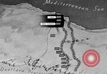 Image of map of Africa El Alamein Egypt, 1944, second 17 stock footage video 65675052596