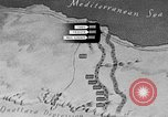 Image of map of Africa El Alamein Egypt, 1944, second 19 stock footage video 65675052596