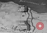Image of map of Africa El Alamein Egypt, 1944, second 24 stock footage video 65675052596