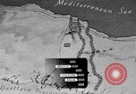 Image of map of Africa El Alamein Egypt, 1944, second 28 stock footage video 65675052596