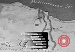 Image of map of Africa El Alamein Egypt, 1944, second 29 stock footage video 65675052596