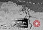 Image of map of Africa El Alamein Egypt, 1944, second 30 stock footage video 65675052596