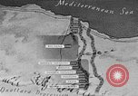 Image of map of Africa El Alamein Egypt, 1944, second 32 stock footage video 65675052596