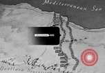 Image of map of Africa El Alamein Egypt, 1944, second 34 stock footage video 65675052596