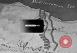Image of map of Africa El Alamein Egypt, 1944, second 35 stock footage video 65675052596