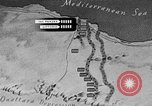 Image of map of Africa El Alamein Egypt, 1944, second 39 stock footage video 65675052596
