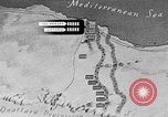 Image of map of Africa El Alamein Egypt, 1944, second 40 stock footage video 65675052596