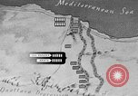 Image of map of Africa El Alamein Egypt, 1944, second 41 stock footage video 65675052596