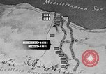 Image of map of Africa El Alamein Egypt, 1944, second 42 stock footage video 65675052596
