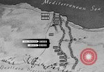 Image of map of Africa El Alamein Egypt, 1944, second 44 stock footage video 65675052596