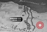 Image of map of Africa El Alamein Egypt, 1944, second 45 stock footage video 65675052596