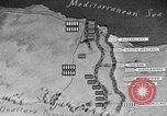 Image of map of Africa El Alamein Egypt, 1944, second 51 stock footage video 65675052596