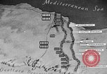 Image of map of Africa El Alamein Egypt, 1944, second 52 stock footage video 65675052596