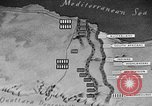 Image of map of Africa El Alamein Egypt, 1944, second 53 stock footage video 65675052596