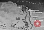 Image of map of Africa El Alamein Egypt, 1944, second 54 stock footage video 65675052596