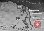 Image of map of Africa El Alamein Egypt, 1944, second 56 stock footage video 65675052596