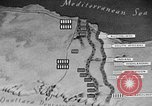 Image of map of Africa El Alamein Egypt, 1944, second 57 stock footage video 65675052596