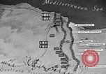 Image of map of Africa El Alamein Egypt, 1944, second 58 stock footage video 65675052596