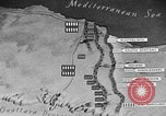 Image of map of Africa El Alamein Egypt, 1944, second 59 stock footage video 65675052596