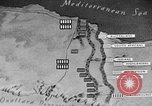 Image of map of Africa El Alamein Egypt, 1944, second 60 stock footage video 65675052596