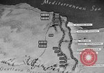 Image of map of Africa El Alamein Egypt, 1944, second 62 stock footage video 65675052596