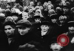 Image of massed crowd parading Moscow Russia Soviet Union, 1924, second 2 stock footage video 65675052607