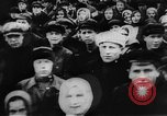 Image of massed crowd parading Moscow Russia Soviet Union, 1924, second 12 stock footage video 65675052607