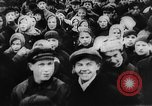 Image of massed crowd parading Moscow Russia Soviet Union, 1924, second 13 stock footage video 65675052607