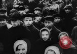 Image of massed crowd parading Moscow Russia Soviet Union, 1924, second 17 stock footage video 65675052607