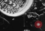 Image of massed crowd parading Moscow Russia Soviet Union, 1924, second 22 stock footage video 65675052607