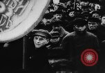 Image of massed crowd parading Moscow Russia Soviet Union, 1924, second 23 stock footage video 65675052607