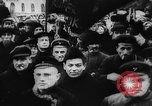 Image of massed crowd parading Moscow Russia Soviet Union, 1924, second 26 stock footage video 65675052607