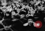 Image of massed crowd parading Moscow Russia Soviet Union, 1924, second 29 stock footage video 65675052607