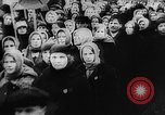 Image of massed crowd parading Moscow Russia Soviet Union, 1924, second 32 stock footage video 65675052607